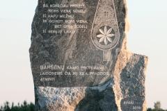 32. Baršėnų paminklinis akmuo