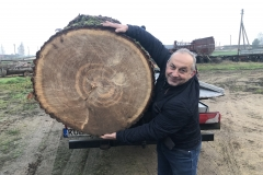 6. Gintaras Ališauskas džiaugiasi, kad transportas ąžuolo svorį atlaiko